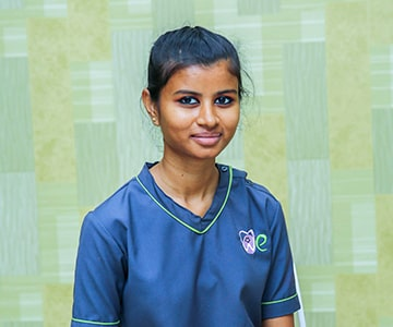 Receptionist of the best dental clinic in coimbatore
